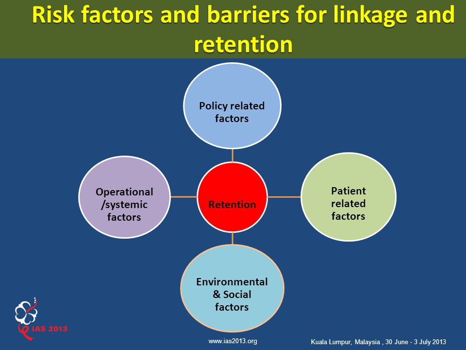 Risk factors and barriers for linkage and retention