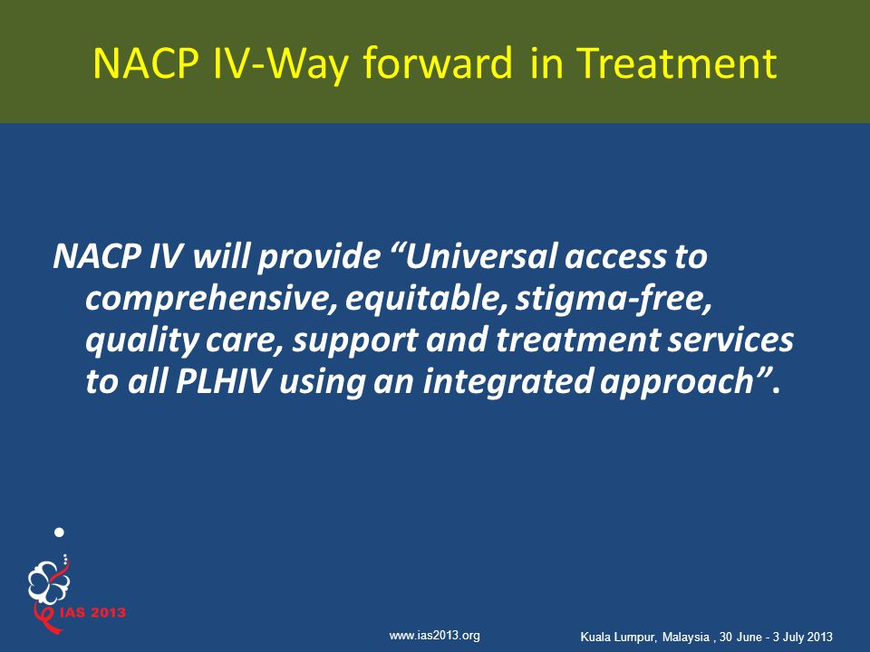 NACP IV-Way forward in Treatment