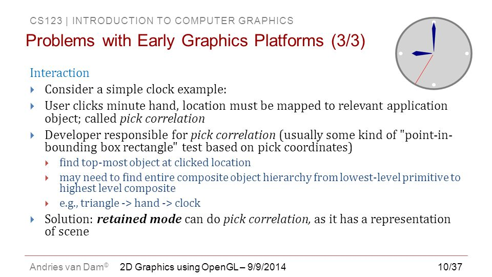 Problems with Early Graphics Platforms (3/3)