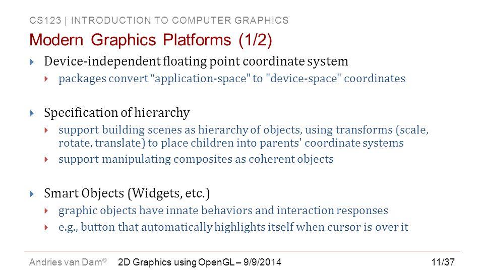 Modern Graphics Platforms (1/2)