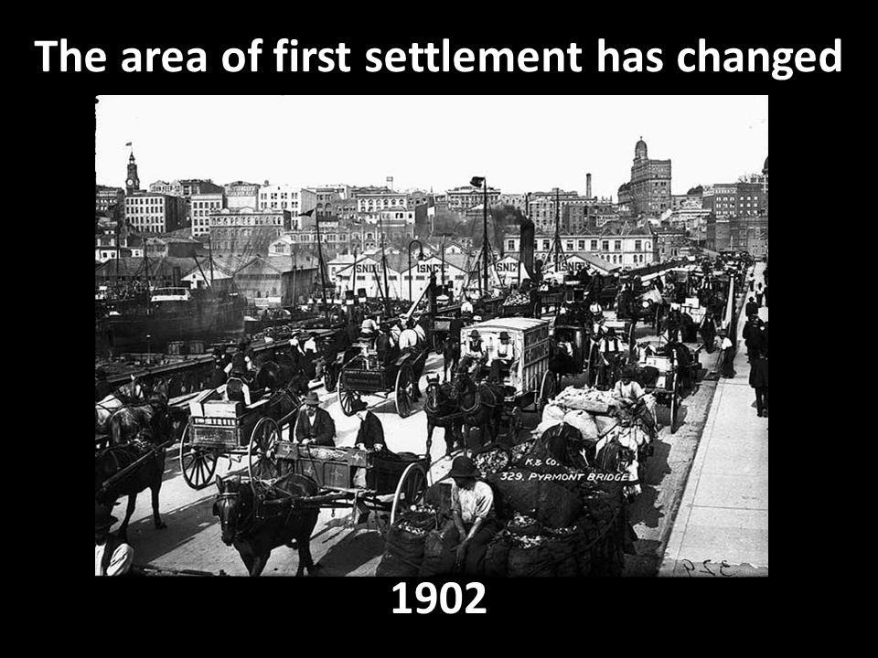 The area of first settlement has changed