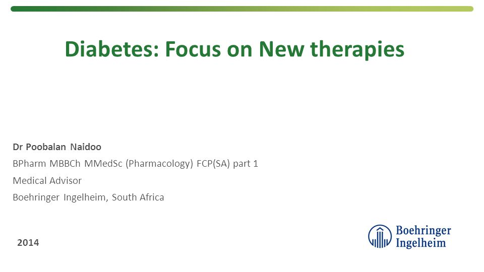 Diabetes: Focus on New therapies