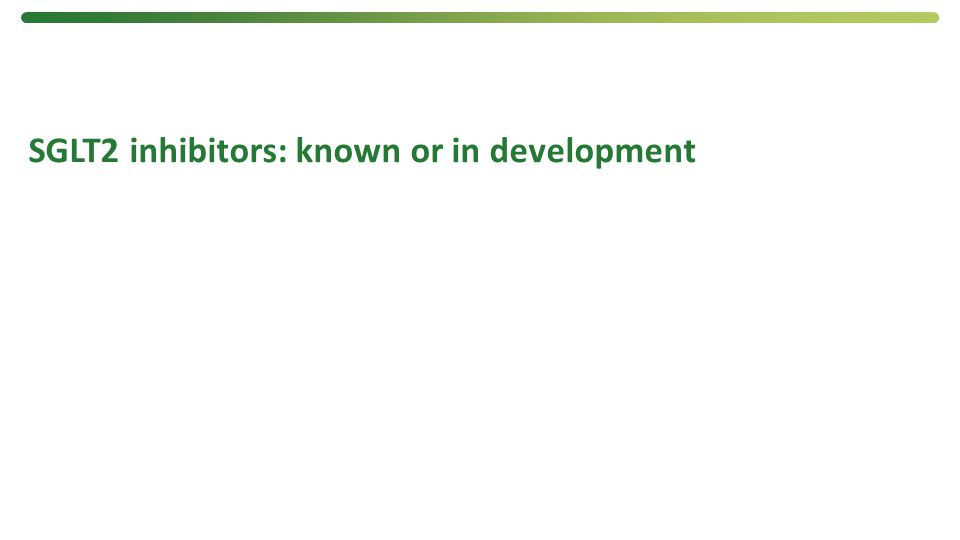 SGLT2 inhibitors: known or in development