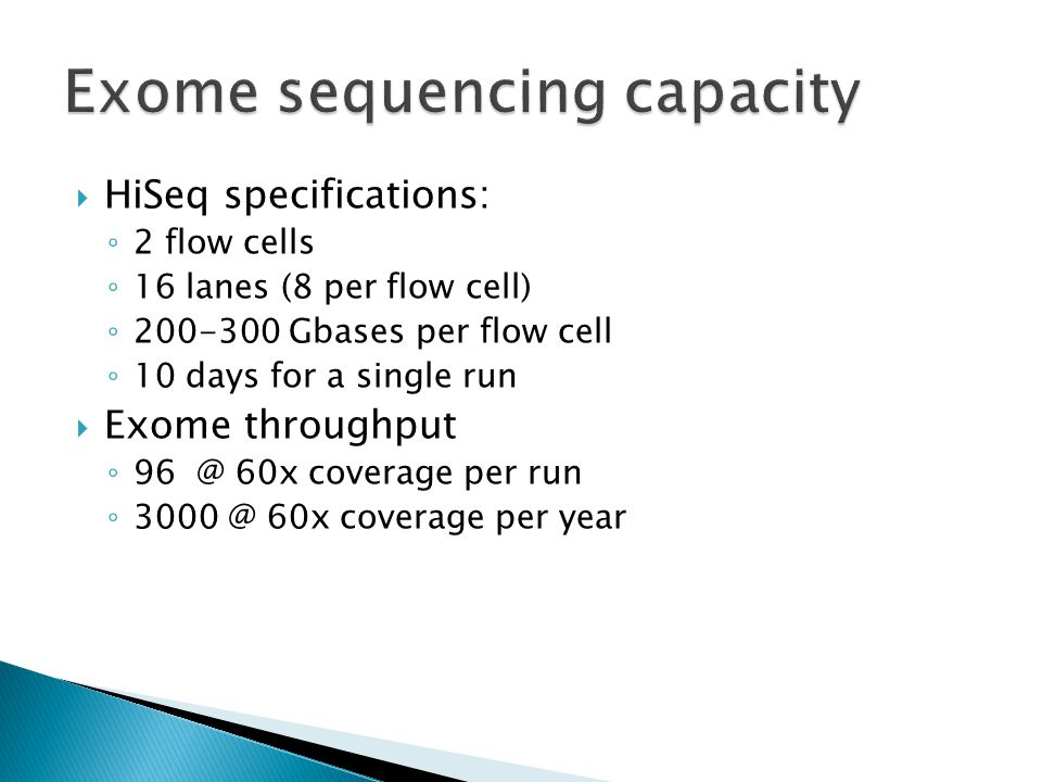 Exome sequencing capacity