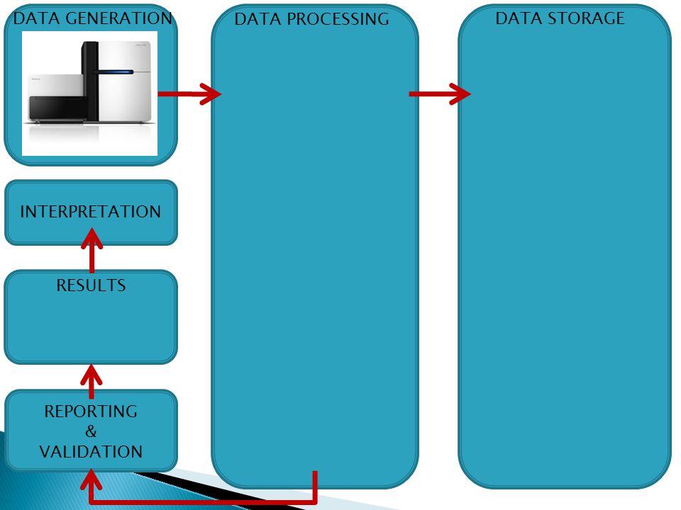 DATA GENERATION DATA PROCESSING DATA STORAGE INTERPRETATION RESULTS REPORTING & VALIDATION