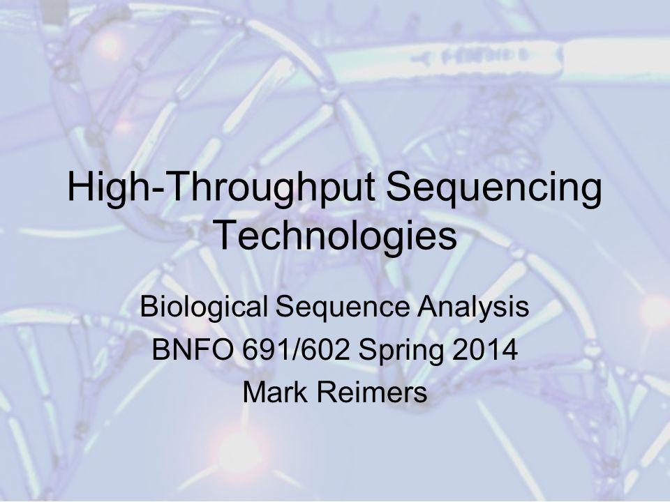 High-Throughput Sequencing Technologies