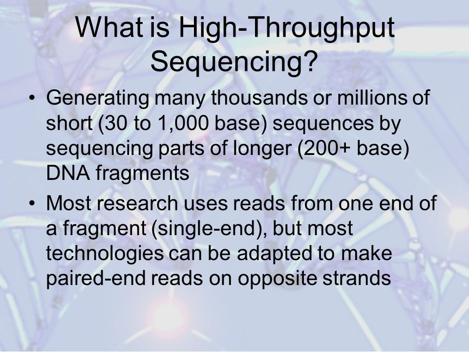 What is High-Throughput Sequencing