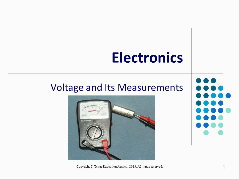 Voltage and Its Measurements