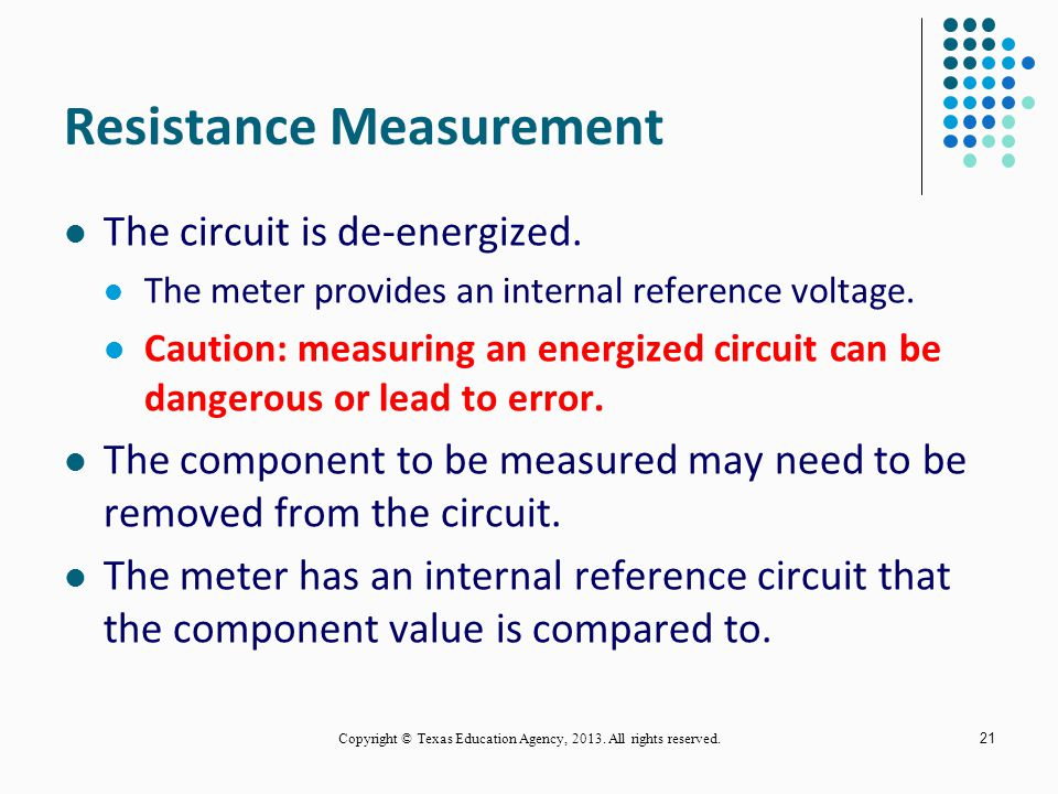 Resistance Measurement