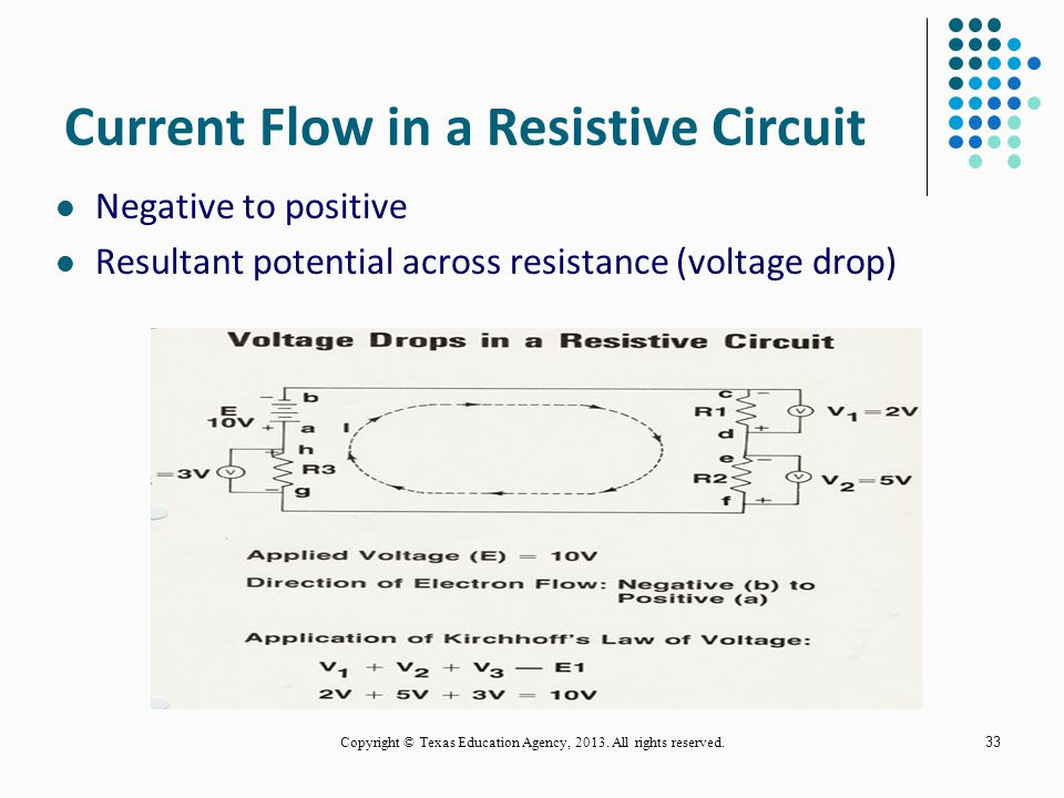 Current Flow in a Resistive Circuit