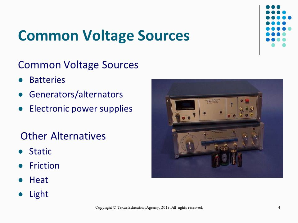 Common Voltage Sources