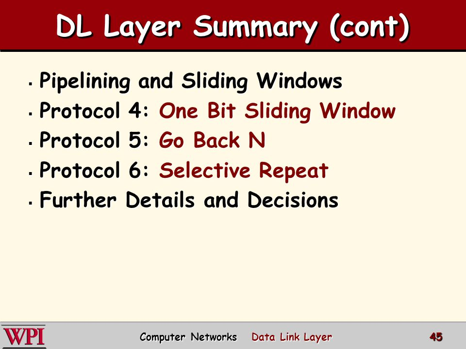 DL Layer Summary (cont)