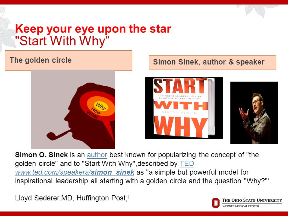 Keep your eye upon the star Start With Why