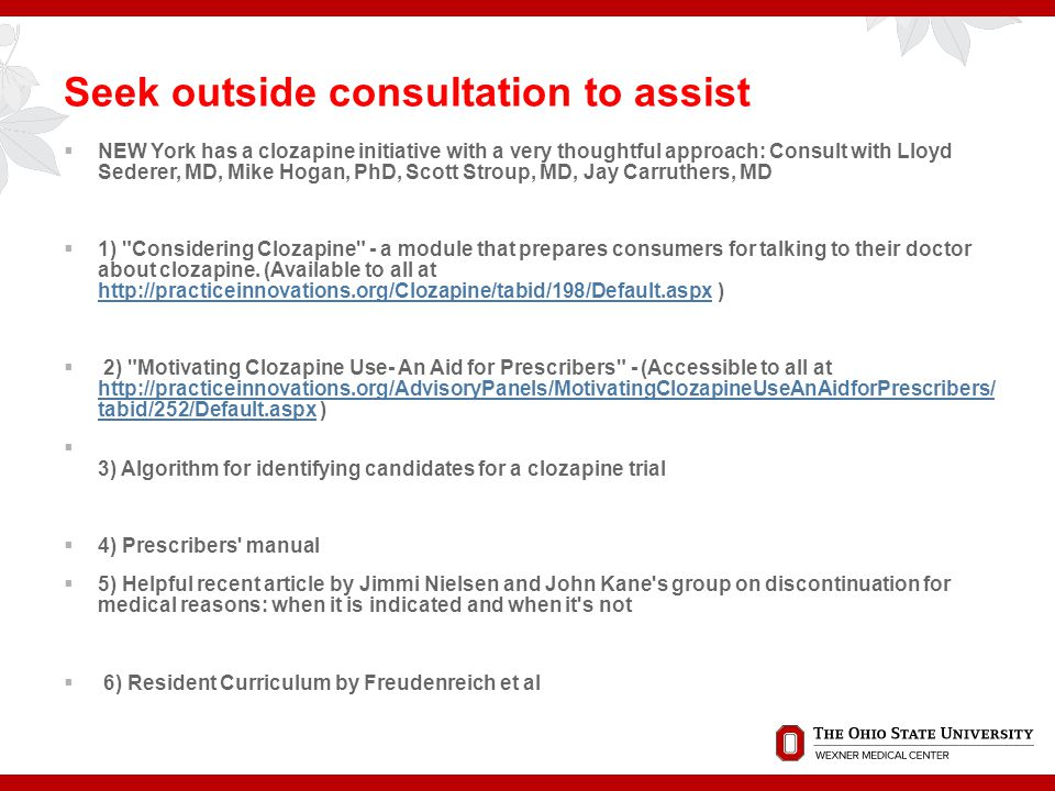 . Seek outside consultation to assist