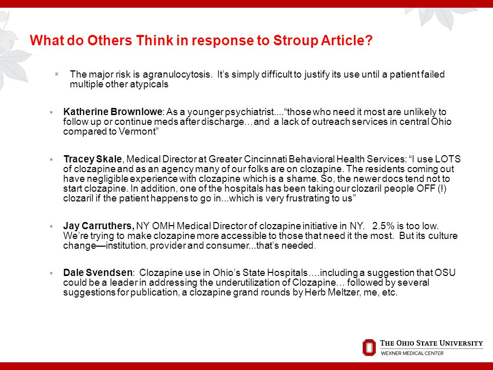 What do Others Think in response to Stroup Article