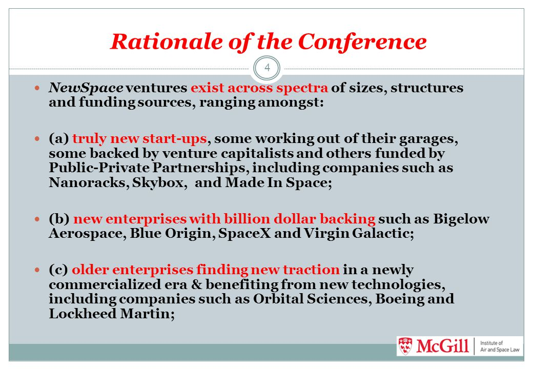 Rationale of the Conference