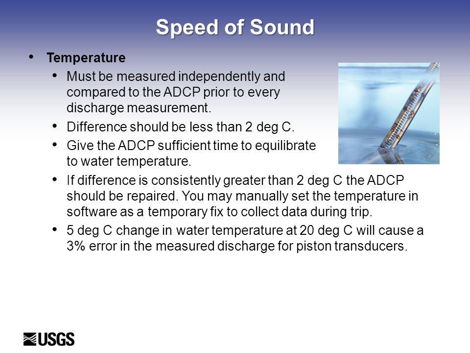 Speed of Sound Temperature