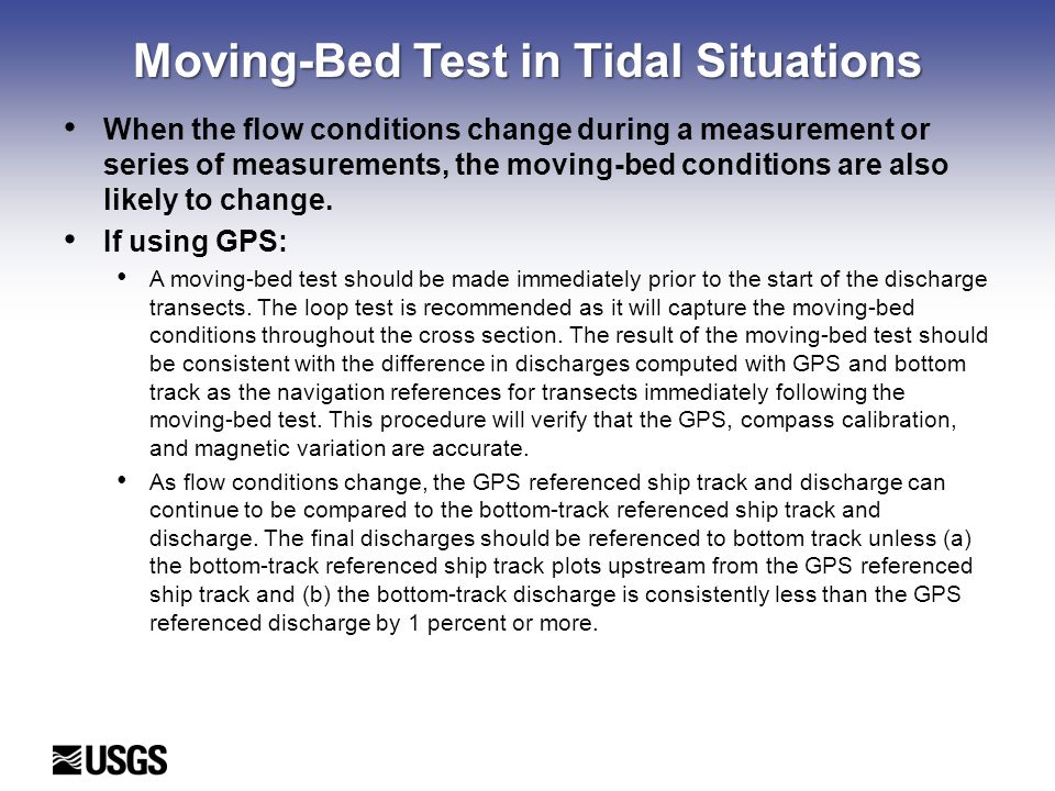 Moving-Bed Test in Tidal Situations