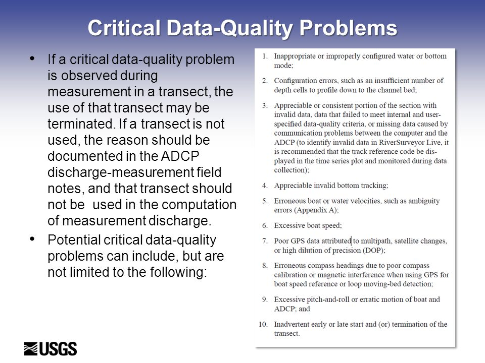 Critical Data-Quality Problems