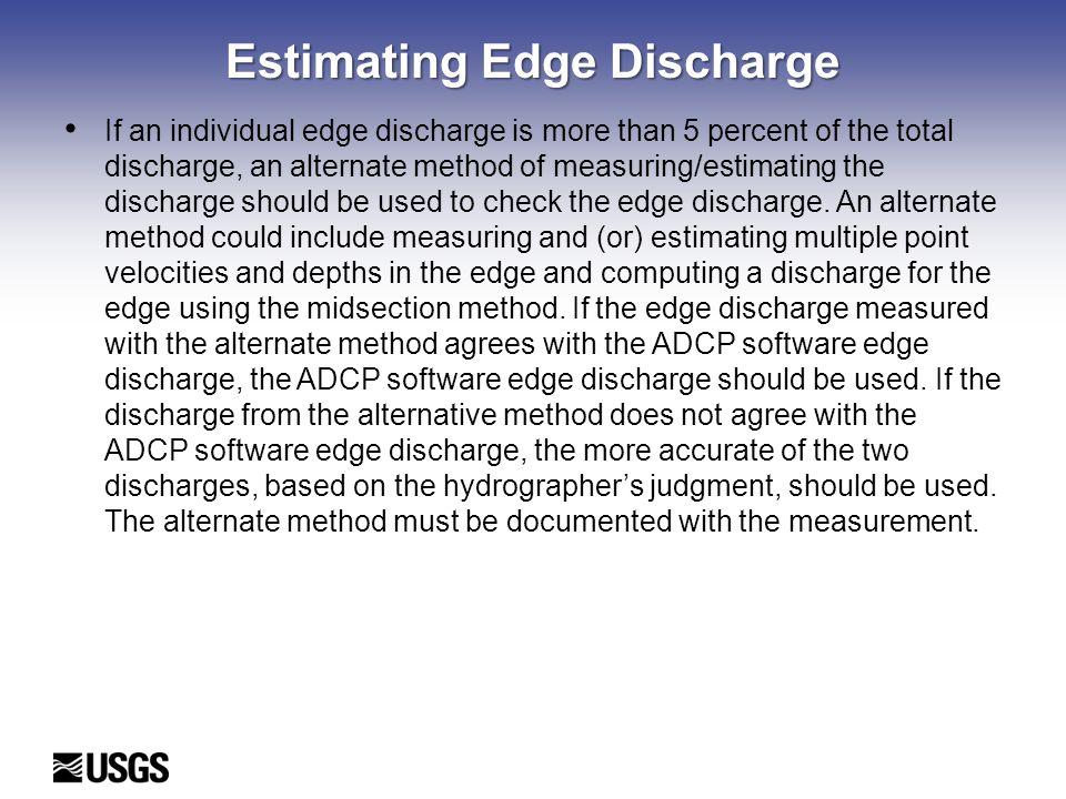 Estimating Edge Discharge