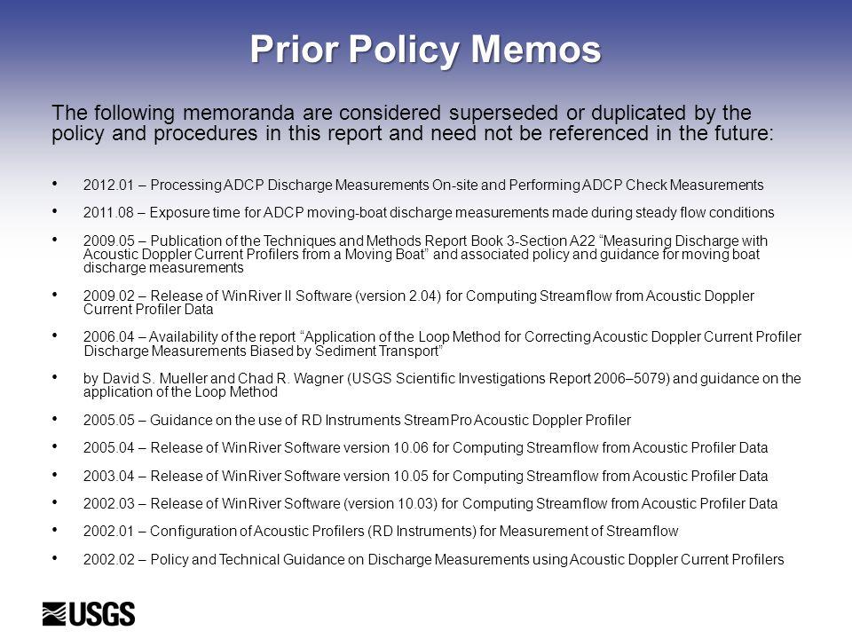 Prior Policy Memos
