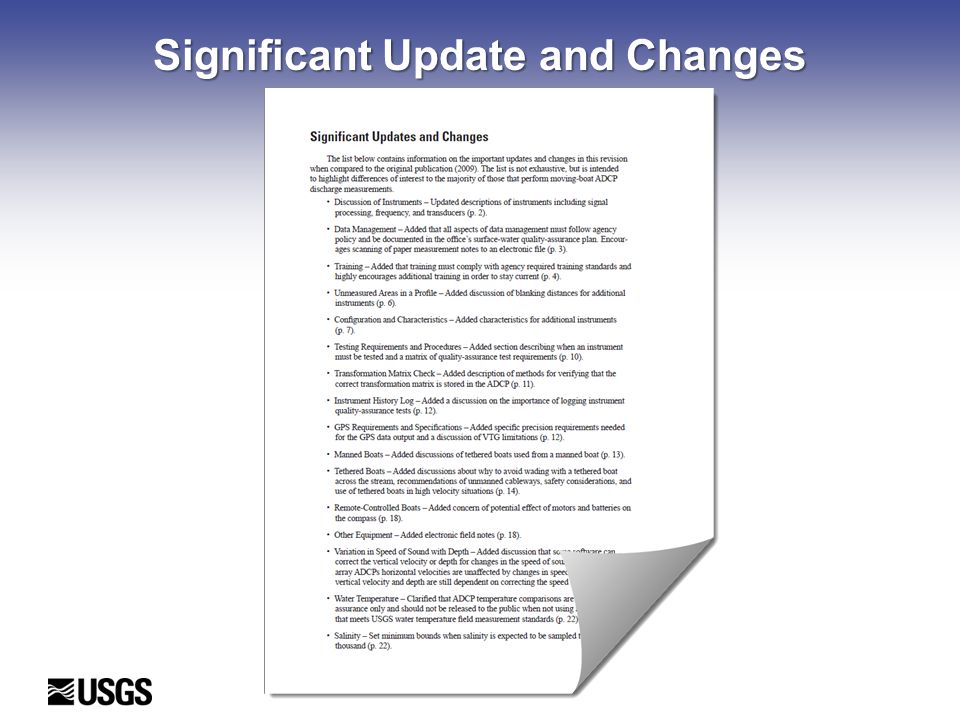 Significant Update and Changes