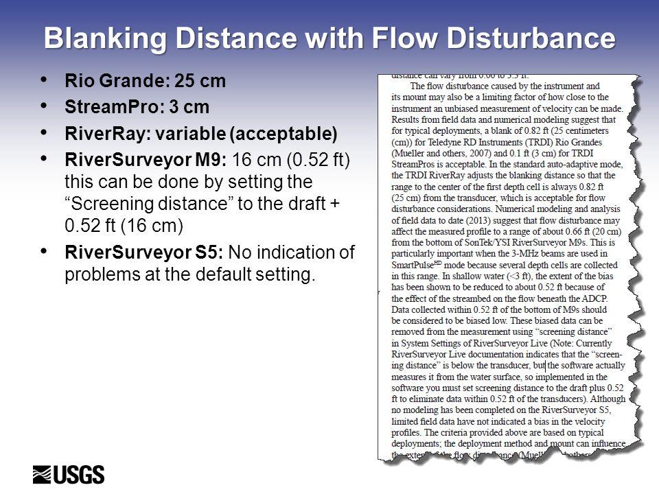 Blanking Distance with Flow Disturbance