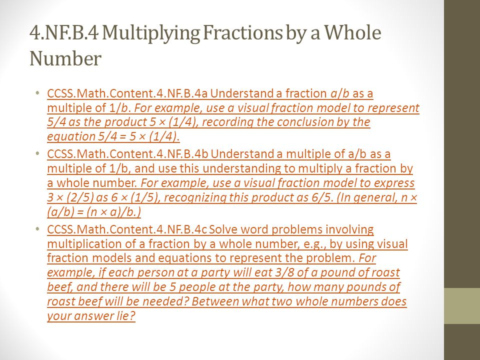 4.NF.B.4 Multiplying Fractions by a Whole Number