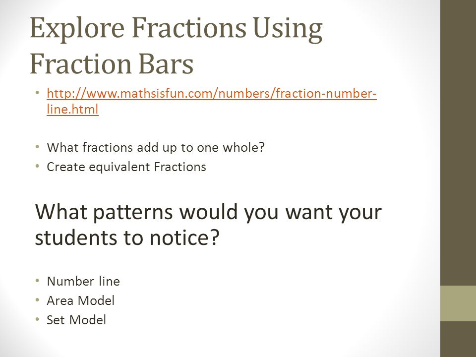 Explore Fractions Using Fraction Bars