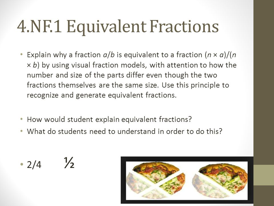 how to explain equivalent fractions