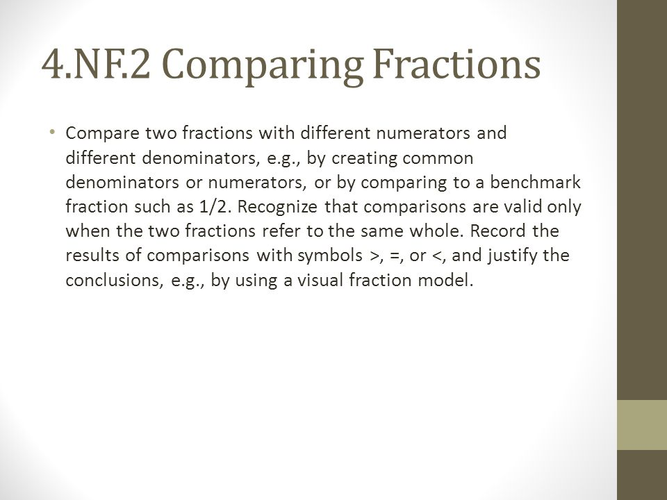 4.NF.2 Comparing Fractions