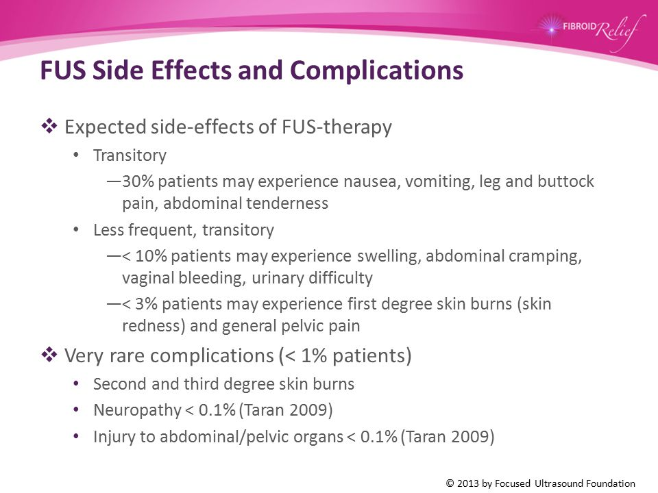 FUS Side Effects and Complications