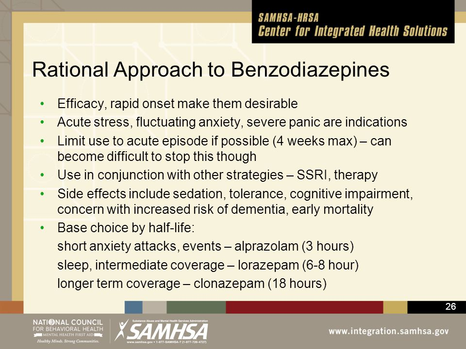 Rational Approach to Benzodiazepines