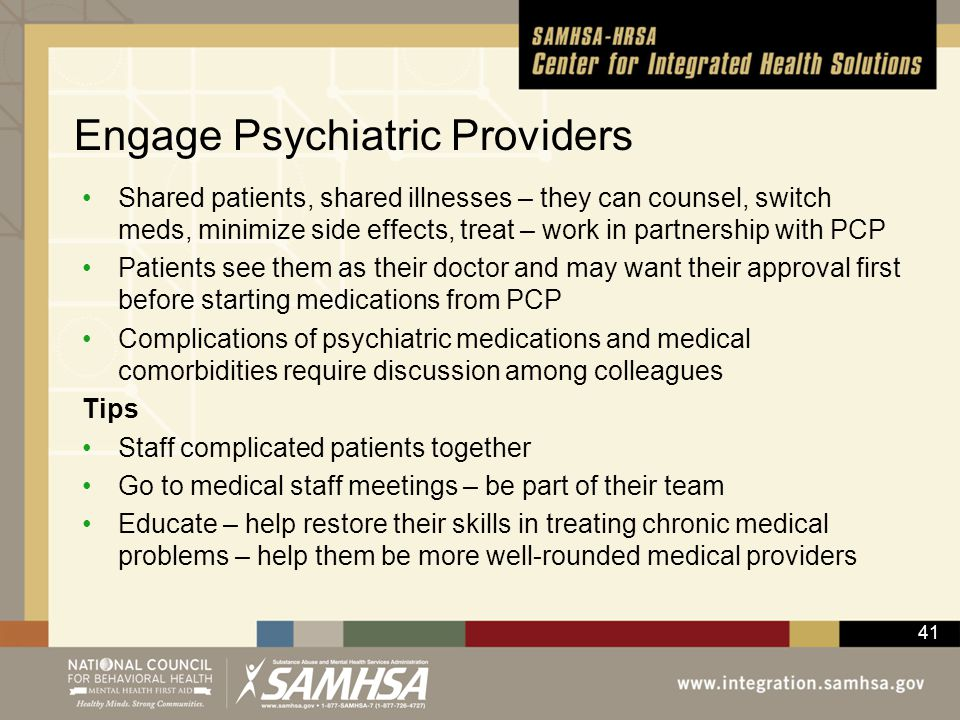 Engage Psychiatric Providers