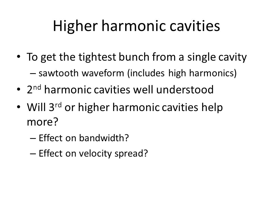 Higher harmonic cavities