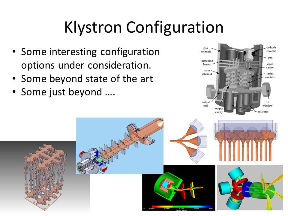 Klystron Configuration