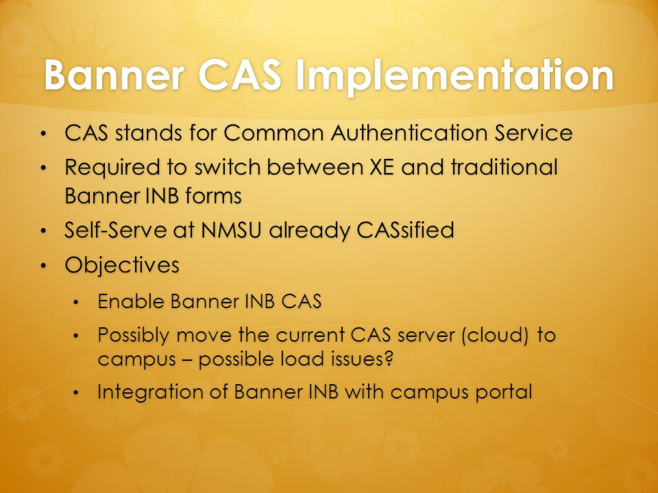 Banner CAS Implementation