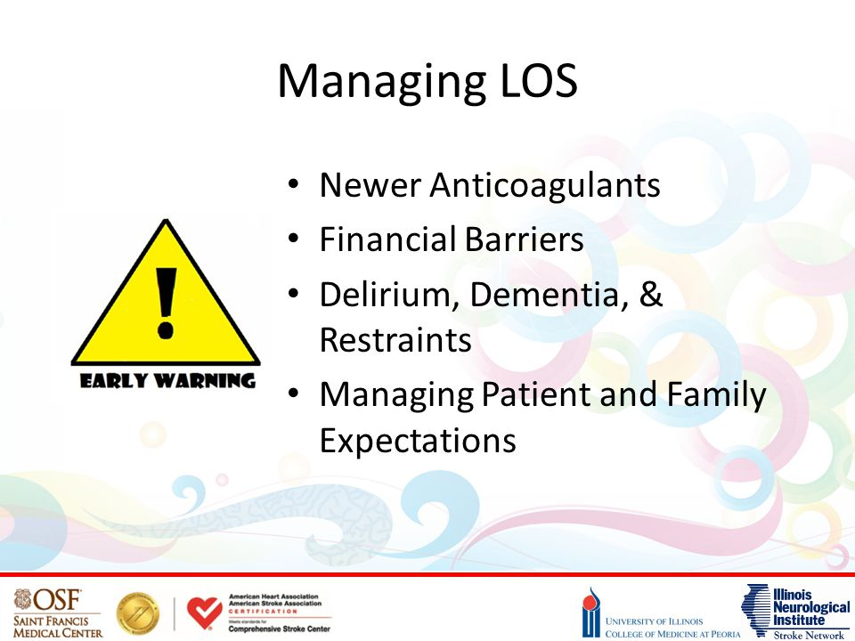Managing LOS Newer Anticoagulants Financial Barriers