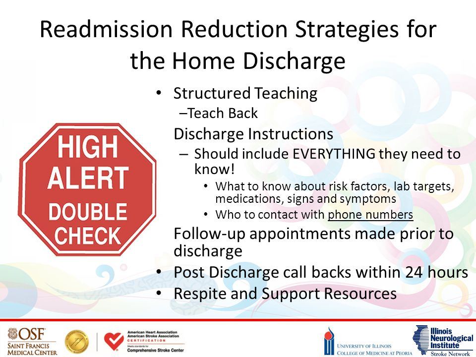 Readmission Reduction Strategies for the Home Discharge