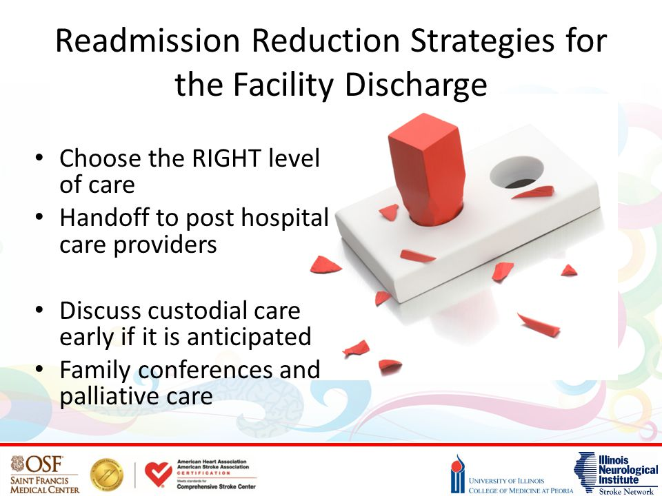 Readmission Reduction Strategies for the Facility Discharge