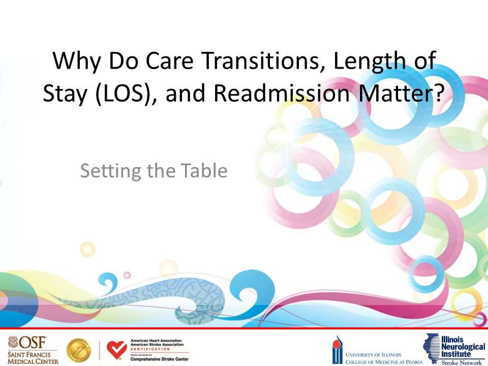 Why Do Care Transitions, Length of Stay (LOS), and Readmission Matter