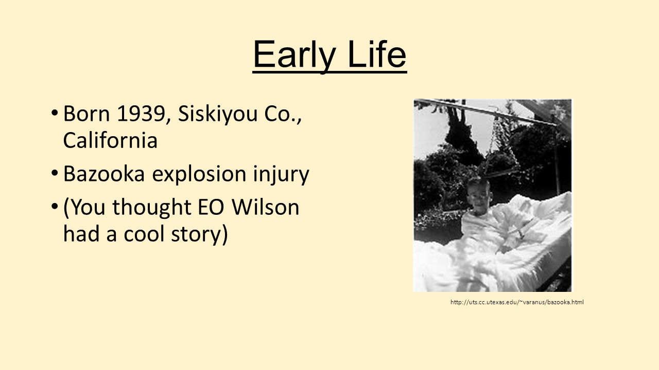 Early Life Born 1939, Siskiyou Co., California