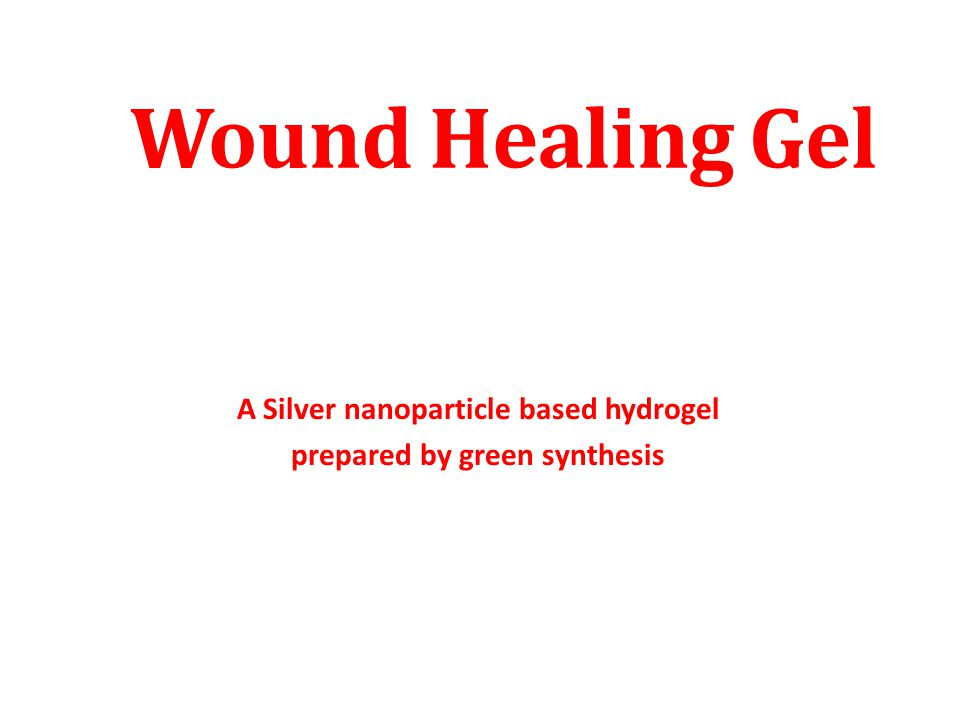 A Silver nanoparticle based hydrogel prepared by green synthesis