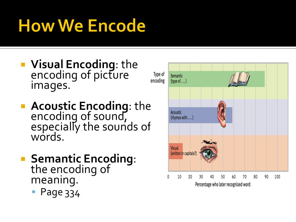 How We Encode Visual Encoding: the encoding of picture images.