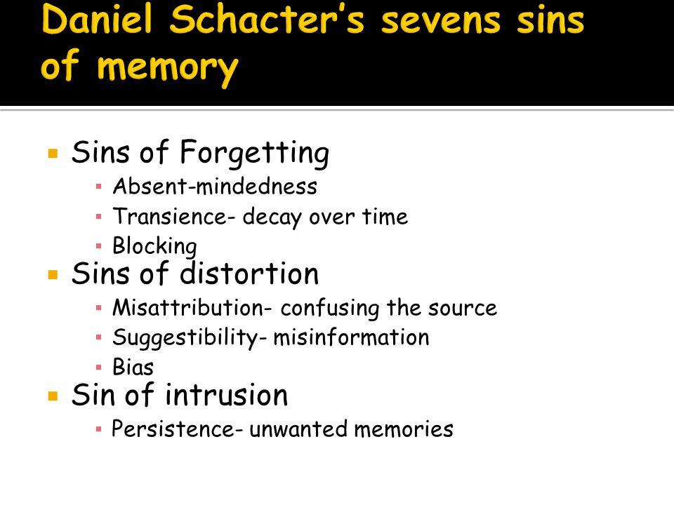 Daniel Schacter's sevens sins of memory