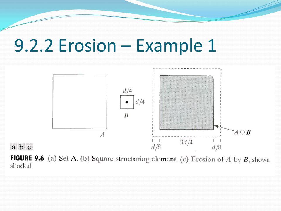9.2.2 Erosion – Example 1