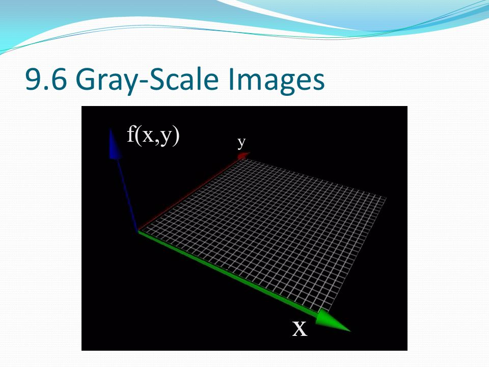 9.6 Gray-Scale Images