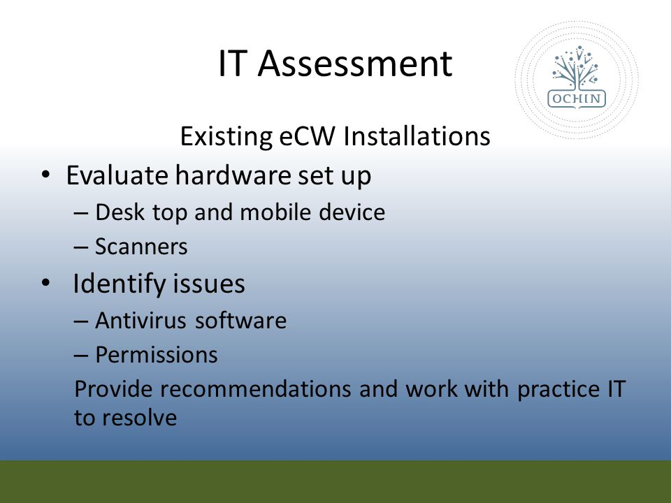 Existing eCW Installations
