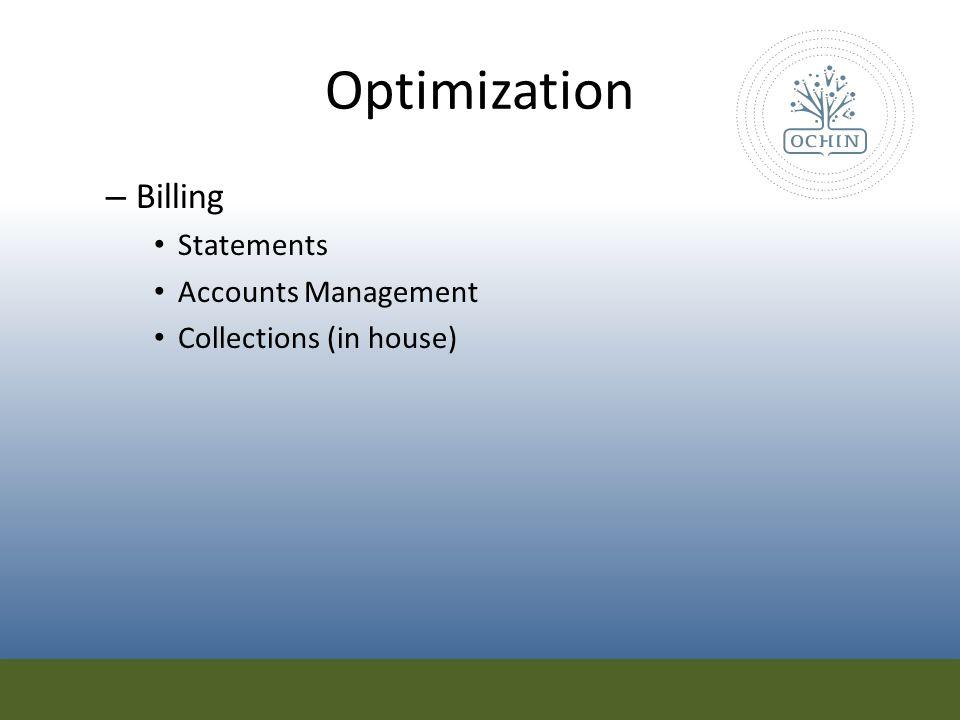 Optimization Billing Statements Accounts Management