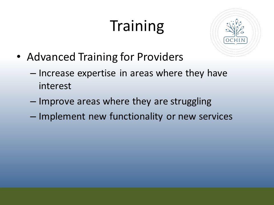 Training Advanced Training for Providers